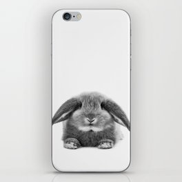 Bunny rabbit sitting iPhone Skin