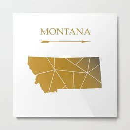 Montana In Gold Metal Print