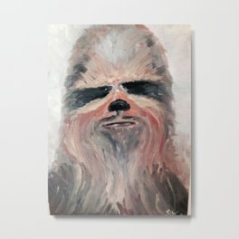 Chewie in the snow Metal Print