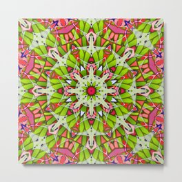 Kaleidoscopic Geometric Flower G542 Metal Print