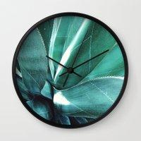cactus Wall Clocks featuring Cactus by Alexandra Str