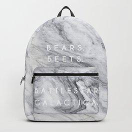 Bears Beets Battlestar Galactica (Marble) Backpack
