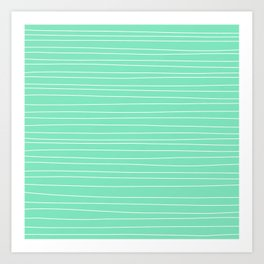 Carnival Glass Plain Stripes Art Print