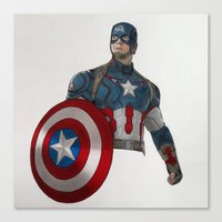 steve rogers Canvas Prints featuring Steve Rogers by Steve Nice