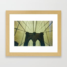 walking symmetry Framed Art Print