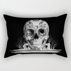Pulled sugar, day of the dead skull Rectangular Pillow
