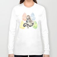 agnes Long Sleeve T-shirts featuring Bravely Default Agnes & Crystals Watercolor by Aini