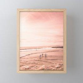 Surfing Framed Mini Art Print