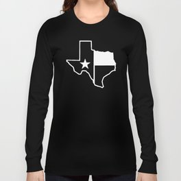 TX Texas State Flag Outline Long Sleeve T-shirt