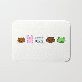 Crayon Animals Bath Mat