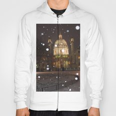 Vienna in Snow by Shimon Drory Hoody