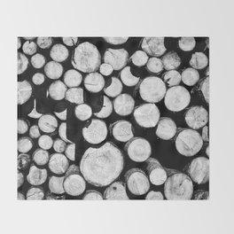 Sawn Timber Throw Blanket