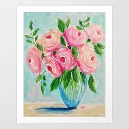 Mid-Century Modern Roses Art Print