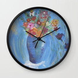 A Bee's home base Wall Clock