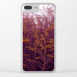 Red and Yellow Goldenrod Clear iPhone Case