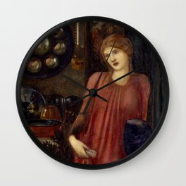 "Edward Burne-Jones ""Fair Rosamund and Queen Eleanor"" Wall Clock"