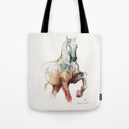 Horse (Siwy / Silver / color version) Tote Bag