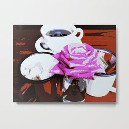 Coffee at The Shabby Scholar Cafe Metal Print