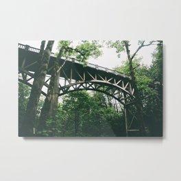 Forest Bridge III Metal Print