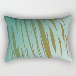 gold lines on blue Ethnic lines, tiger Rectangular Pillow