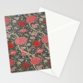 William Morris Floral Red and Pink Art Nouveau Textile Patter Stationery Cards