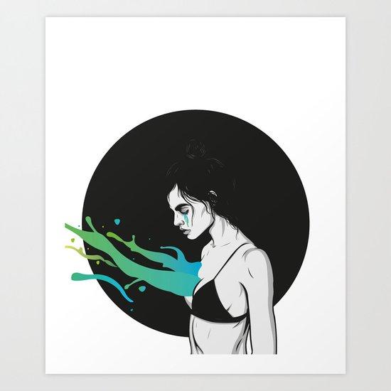 Let it out Art Print