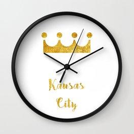 Stay Golden | Kansas City Wall Clock