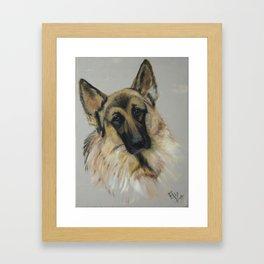 German shepard Framed Art Print