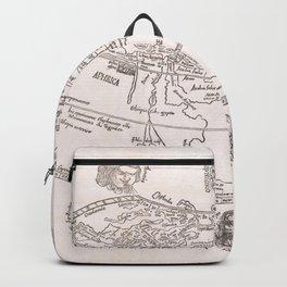 Vintage Map Print - 1503 World Map Backpack