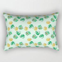 Luck Shamrock St. Patricks Day Pattern Rectangular Pillow
