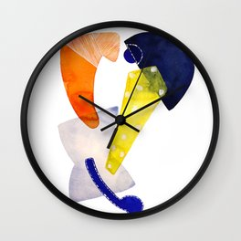 orange-ish Wall Clock