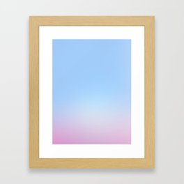 Cotton Blue Gradient Framed Art Print