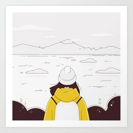 All the pleasures of traveling alone - November Art Print
