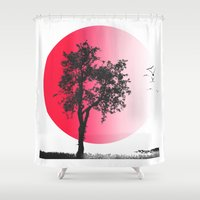 japan Shower Curtains featuring Japan by coverartwork