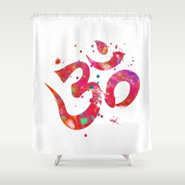 Colorful Om Symbol Shower Curtain