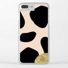 Golden exotics - Cow and soft tangerine Clear iPhone Case