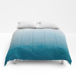 water-lightblue Comforters