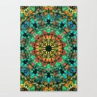 kaleidoscope Canvas Prints featuring Kaleidoscope by Klara Acel