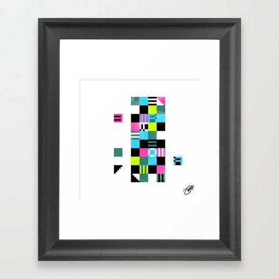 Something Other 1 On White Framed Art Print