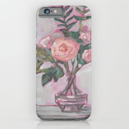 Pops of Hot Pink Florals iPhone Case