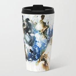Brown and blue abstract Travel Mug