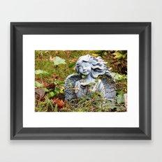Yard Angel Framed Art Print