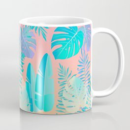 Tropics ( monstera and banana leaf pattern ) Coffee Mug