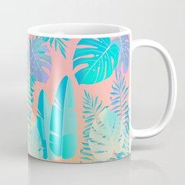 Tropics ( monstera and banana leaf pattern ) Coffee Mug