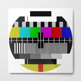 TV PTV Circle Metal Print