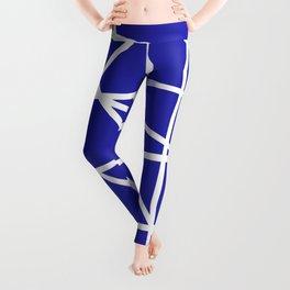 Doodle (White & Navy Blue) Leggings