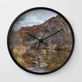 Oak Creek at the Base of Cathedral Rock Wall Clock