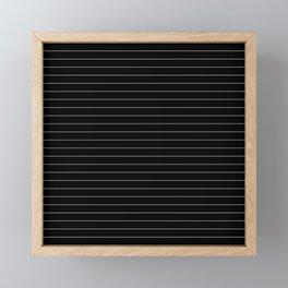 Black White Pinstripe Minimalist Framed Mini Art Print