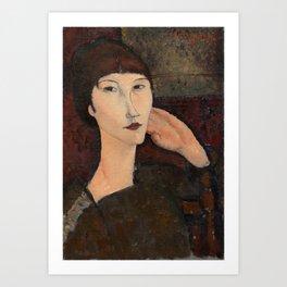 "Amedeo Modigliani ""Adrienne (Woman with Bangs)"" (1916) Art Print"