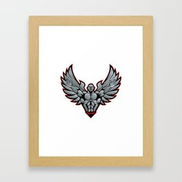 Symbol for gym and fitness Framed Art Print